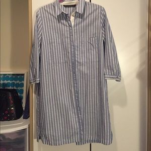 Zara Basic Stripped Shirt Dress